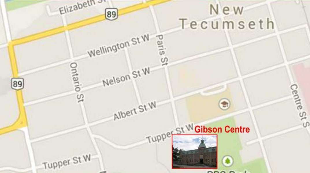Map to Gibson Centre