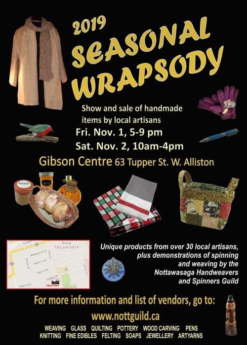 Nottawasaga Handweavers and Spinners Guild - Seasonal Wrapsody 2019